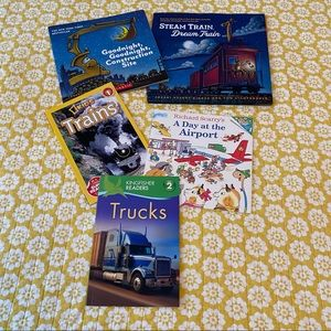 Truck and Construction and Trains book set!